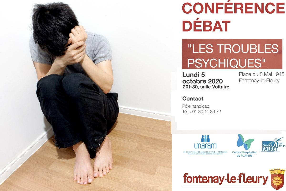 Conférence débat troubles psychiques Fontenay le Fleury